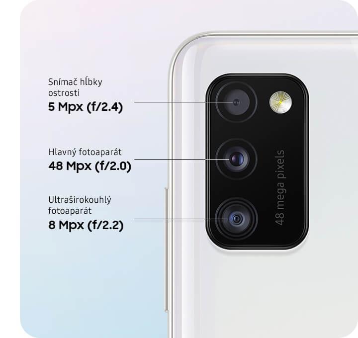 Špičkový trojnásobný fotoaparát