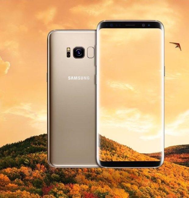 Samsung Galaxy S8 - zlatý