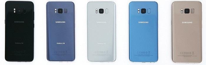 Samsung Galaxy S8 - farby