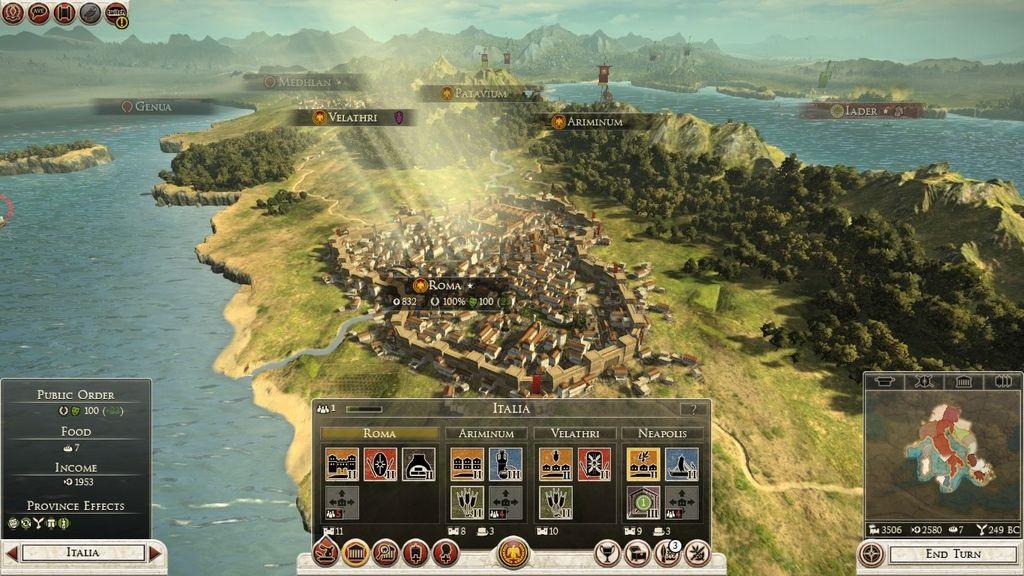 Total War; Rome 2 – spáva miest