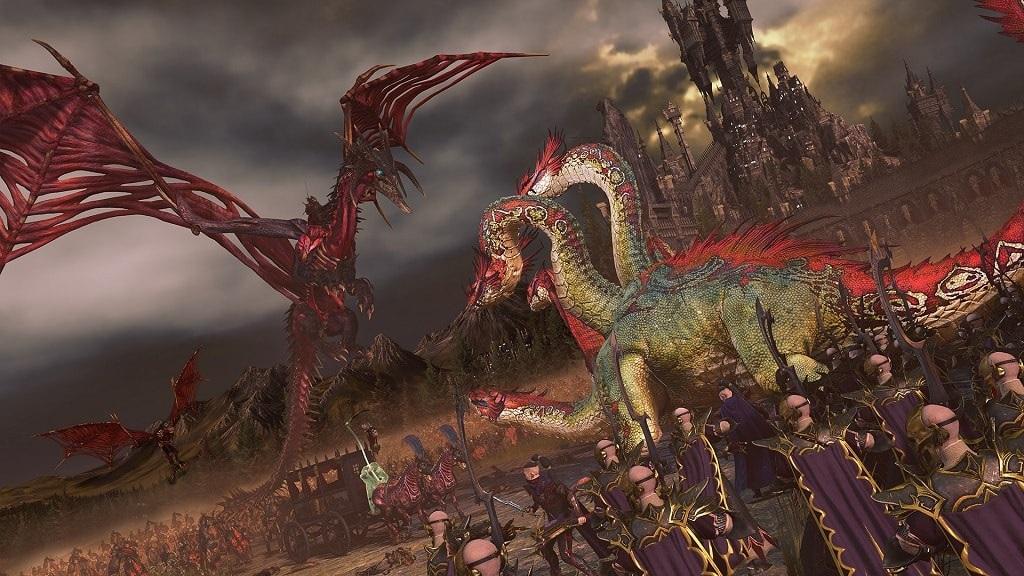Total War: Warhammer 2; Mortal Empires, nemrtví, temní elfovia