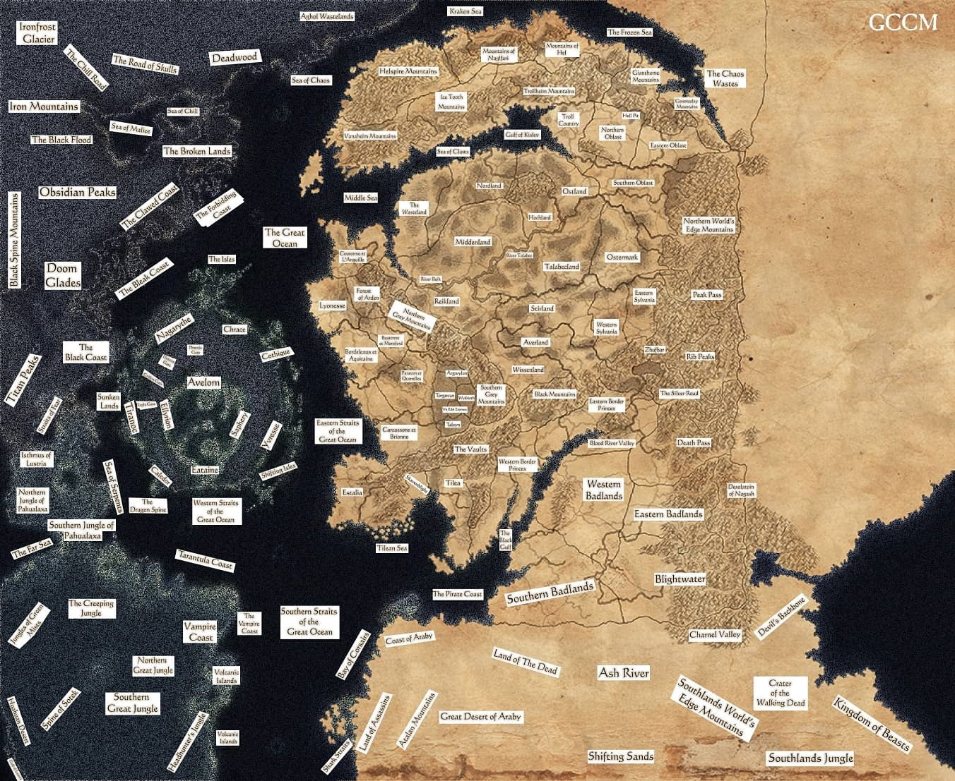 Total War: Warhammer 2; Mortal Empires, Map