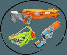 Detské zbrane Nerf