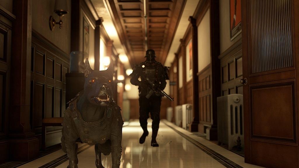 Wolfenstein 2: The Diaries of Agent Silent Death; hliadkujúci, stráž