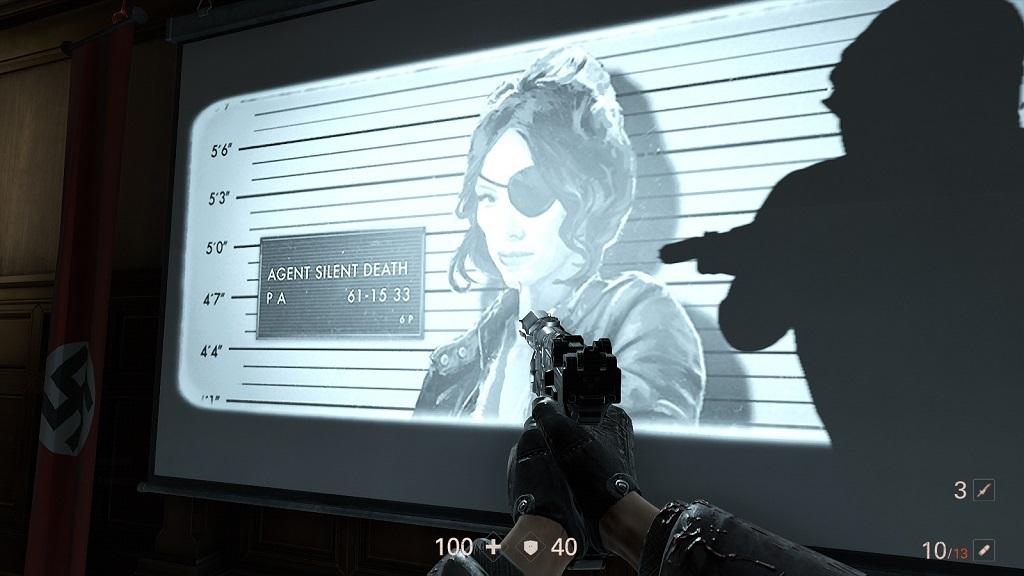Wolfenstein 2: The Diaries of Agent Silent Death; Gameplay: Tv, screen