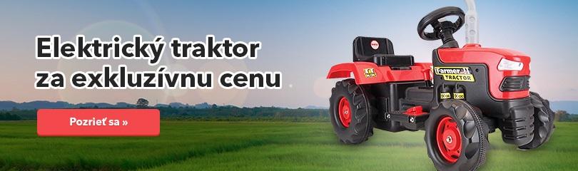 Detský elektrický traktor