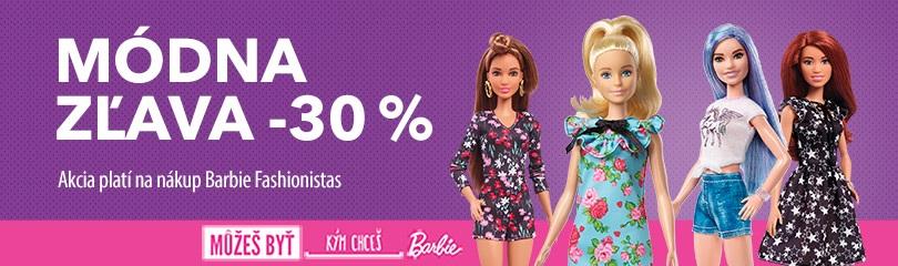 30% zľava na Barbie