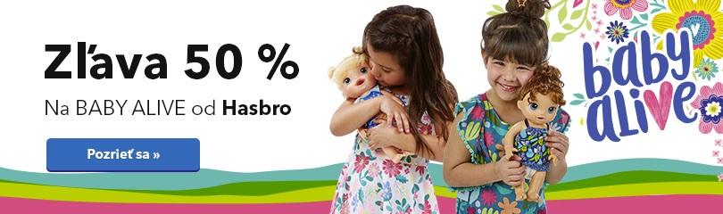 Zľava 50 % na Baby Alive