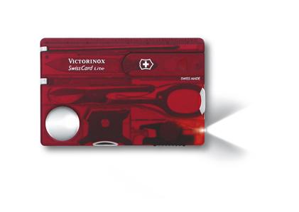 Vreckový nôž VICTORINOX Swiss Card Lite Translucent červený