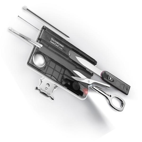 Vreckový nôž VICTORINOX Swiss Card Lite Translucent čierny