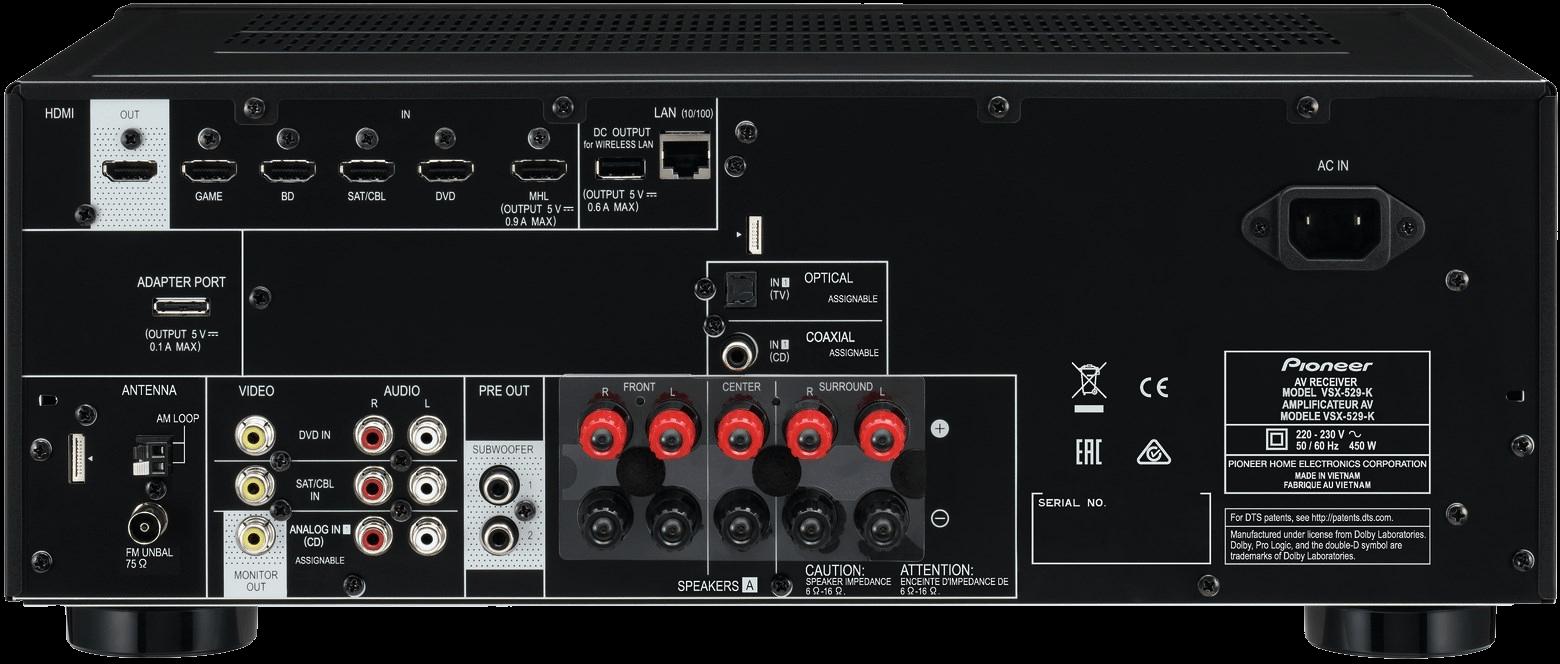 Pioneer VSX-529 čierny