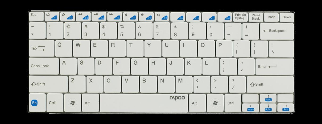 Klávesnice Rapoo E6100 Ultra-slim