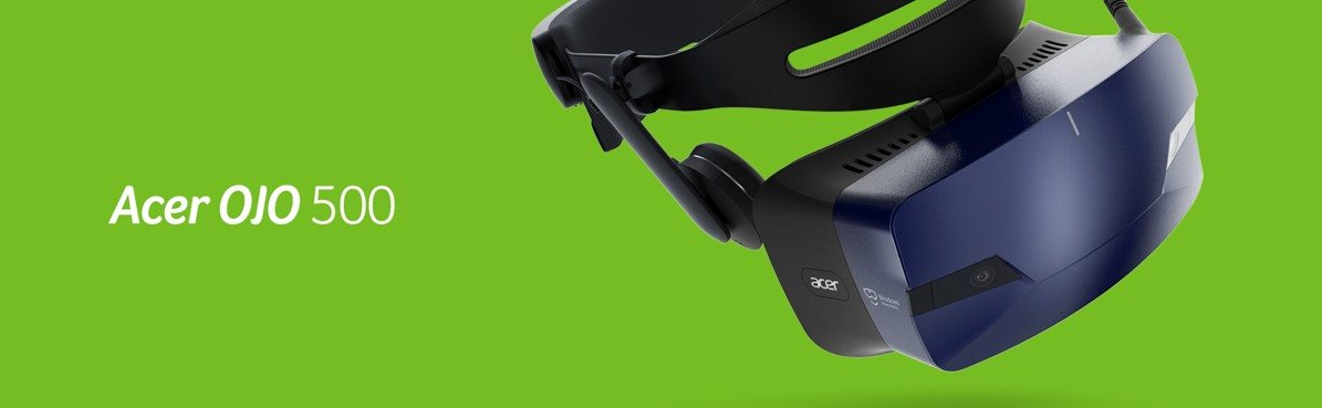 7a17ad118 Acer Windows Mixed Reality Headset OJO 500 + pohybové ovládače ...