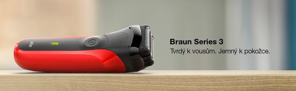 Braun Series 3 300 Red - Holiaci strojček planžetový  18e29603e08