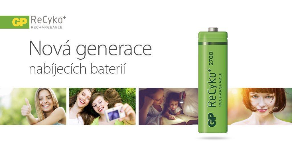Nová generace nabíjecích baterií GP ReCyko Pro