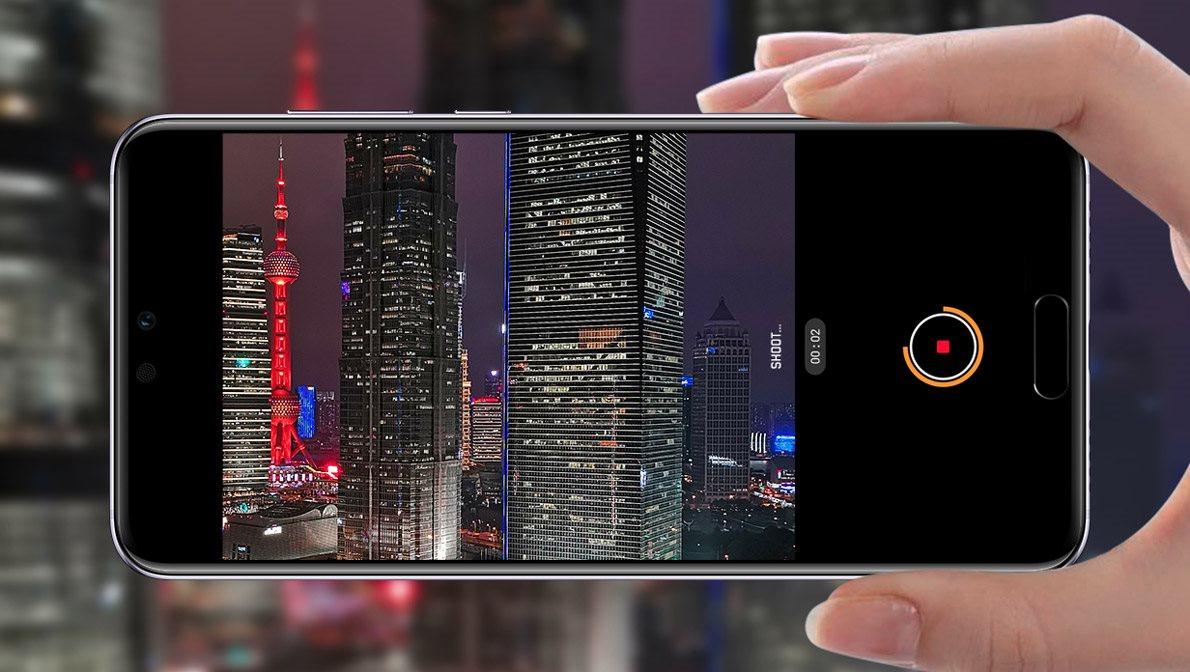 Huawei P20, nočné snímky