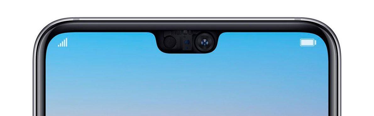 Huawei P20, čelná kamera
