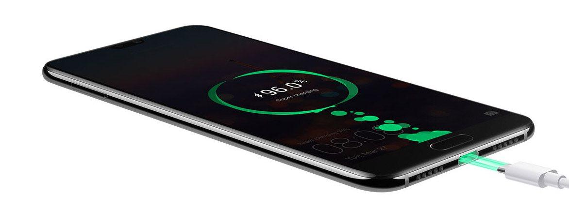 Huawei P20, batéria