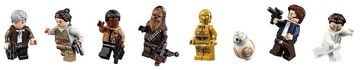 LEGO Millennium Falcon figures