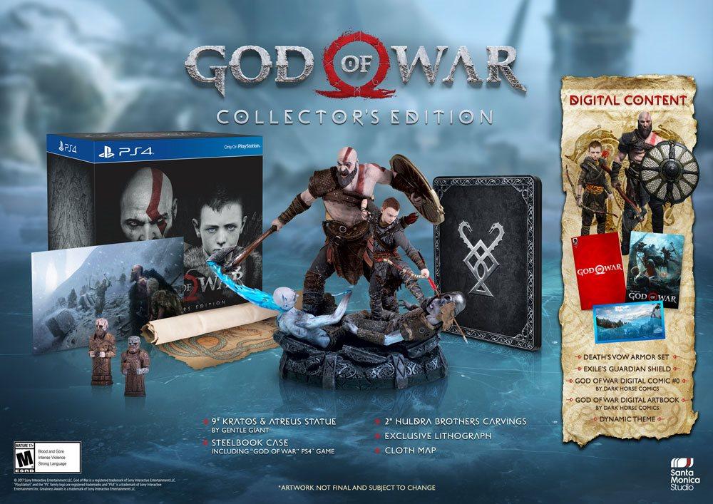 Hra pre konzolu God Of War Collectors Edition – PS4 – obsah 5752eb36636