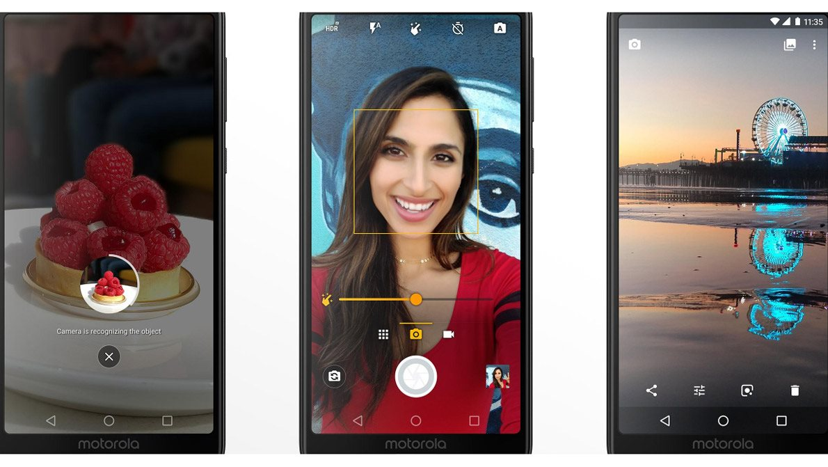 Mobilní telefon Motorola Moto G6, kamera
