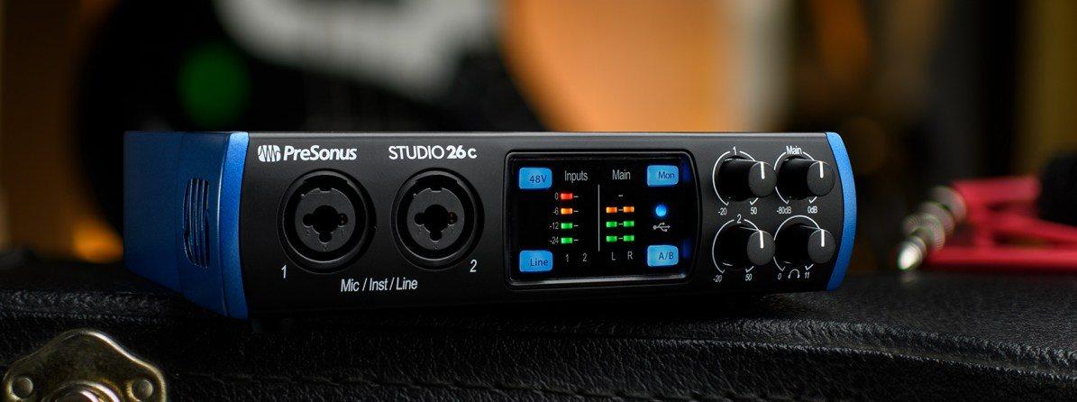 Externá zvuková karta Presonus Studio 26c