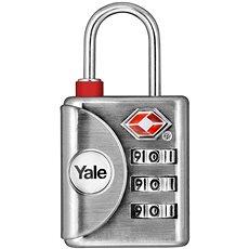 YALE VISACÍ ZÁMEK YTP1/32/119/1 s TSA stříbrný - TSA zámok na kufor