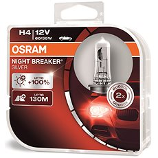 OSRAM H4 Night Breaker SILVER + 100 %, 2 ks - Autožiarovka