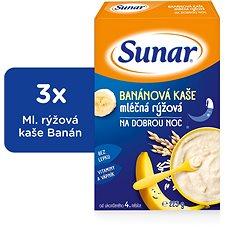 Sunárek banánová kašička na dobrú noc - 3x 225g - Mliečna kaša