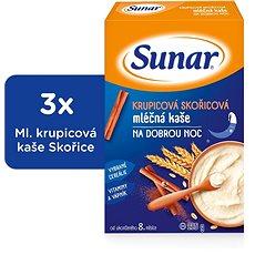 Sunárek krupicová kašička so škoricou na dobrú noc - 3x 225g - Mliečna kaša