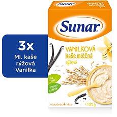 Sunárek vanilková kašička - 3x 225g - Mliečna kaša