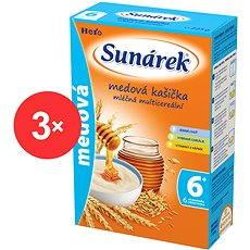 Sunarka medová kašička - 3x 225 g - Mliečna kaša