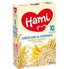 Hami Mliečna kaša so 7 obilninami banánová s chrumkami a corn-flakes 225 g - Mliečna kaša