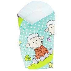 New Baby Detská zavinovačka tyrkysová s ovečkou - Zavinovačka