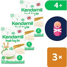 Kendamil Jemná detská ryžová kaša 3× 100 g - Mliečna kaša
