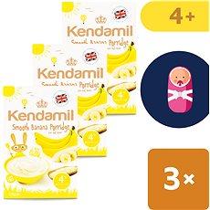 Kendamil Jemná detská banánová kaša 3× 125 g - Mliečna kaša