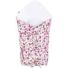 New Baby Klasická šnurovacia zavinovačka, ružové motýle - Zavinovačka