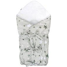 New Baby Klasická šnurovacia zavinovačka, hviezdičky sivé - Zavinovačka