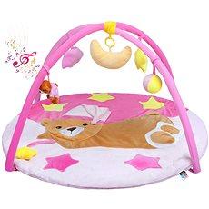 PlayTo hracia deka s melódiou spiaci medvedík – ružová - Hracia deka
