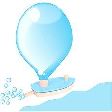 Drevená loďka na balónikový pohon - Hračka do vody