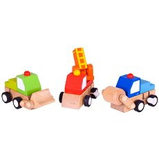 Farebné autíčka na naťahovanie - Sada autíčok