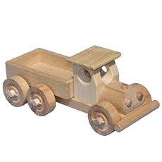 Drevené nákladné auto s korbou - Drevený model