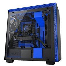 NZXT H700i čierno-modrá - Počítačová skriňa