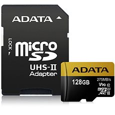 ADATA Premier ONE Micro SDXC 128 GB USH-II U3 Class 10 + SD adaptér - Pamäťová karta