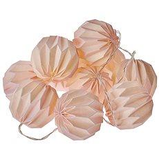 EMOS LED vianočná girlanda – 10× ružové pap. gule, 2× AA, teplá b., čas. - Vianočné osvetlenie