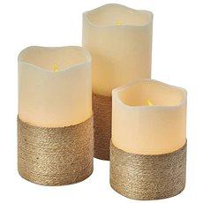 EMOS LED vánoční dekorace – svíčka s provázkem, 9×AAA, ovl., čas. - Vianočné osvetlenie