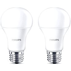 Philips LED 13 – 100 W, E27, 2700 K, matná, súprava 2 ks - LED žiarovka
