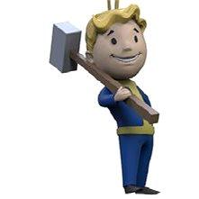 Fallout Vault Boy 3D – Melee – kľúčenka - Kľúčenka