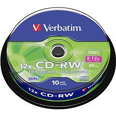Verbatim CD-RW 10×, 10 ks Cake-Box - Médium