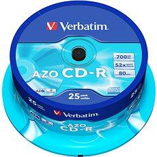 VERBATIM CD-R 80 52x CRYST. spindl 25pck/BAL - Médium
